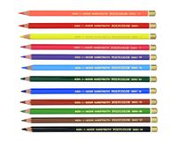 Koh-I-Noor Polycolor Artist's Coloured Pencils - Assorted - Set of 12 in Tin Box