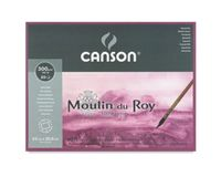 Canson Moulin du Roy 300 GSM 23 x 30.5 cm 4 Side Glued Pad of 20 Satin Grain Sheets