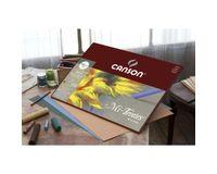 Canson Mi-Teintes 160 GSM 24 x 32 cm Album of 16 Honeycomb & Fine Grain Sheets - Black