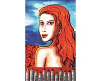 Koh-I-Noor Wax Aquarell Extra Fine Wax Pastel Pencils - Set of 12 Assorted Colours in Tin Box