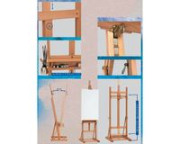 MABEF Beech Wood Basic Studio Easel - H Frame - with Tray