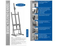 MABEF Beech Wood Basic Studio Easel - H Frame