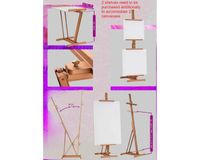 MABEF Beech Wood Convertible Lyre Easel