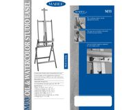 MABEF Beech Wood Oil / Watercolour Studio Easel - H Frame