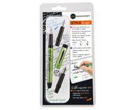 Manuscript Styluscript Fountain Pen - 3 Nib Set - Green Barrel