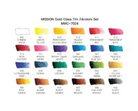 Mission Gold Professional Grade Extra-Fine Watercolour  - Set of 24 Tubes x 7 ML