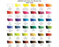 Mission Gold Professional Grade Extra-Fine Watercolour  - Set of 36 Tubes x 7 ML