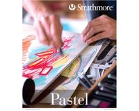 Strathmore 400 Series Pastel 9''x12'' 6 Assorted Pastel Shades Fine Grain 118 GSM Paper, Short-Side Glue Bound Pad of 24 Sheets