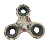 Fidget Spinner New Metal Printed 608 Center Bearing 60-90 Secs Spinning Time;Colour/Print May Vary;RELIEVES STRESS,RELIEVES ADHD,HELP TO DROP SMOKING,GET RID OF CELLPHONE