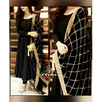 Royal Black Ethnic Dress