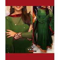 Green/Maroon Anarkali