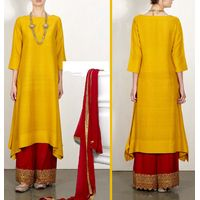 Trendy Mustard Red Dress