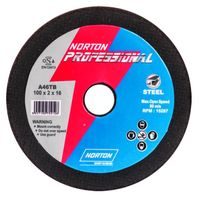 Norton Professional 100 x 2 x 16  Cutting  Wheels  4 inch