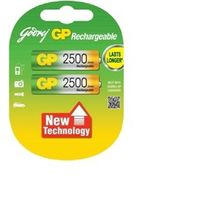Godrej AA 2500mAh Low Self Discharge Rechargeable Batteries