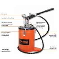 Groz Bucket Grease Pumps Without wheels, Capacity 10 kg,VGP/10A