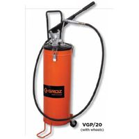 Groz Bucket Grease Pumps With wheels, Capacity 20 kg VGP/20