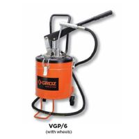 Groz Bucket Grease Pumps With wheels, Capacity 6 kg VGP/6