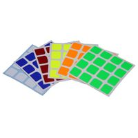Cubicle 4x4 Half Bright Sticker Set 62mm - YuXin