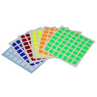 Cubicle 7x7  Half Bright Sticker Set 78mm - AoFu