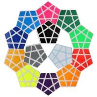 Cubicle Megaminx Bright Sticker Set 32mm-ShengShou