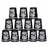 YJ Stacking Cups with Bag - Black