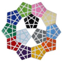 Cubicle Megaminx Sticker Set 32mm-DaYan