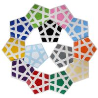 Cubicle Megaminx Sticker Set 32mm-YuHu