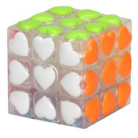 YJ Heart Shape 3x3 Tiled White