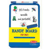 Reynolds Handy Board 360 Whiteboards Combo - With1 Duster 1 White board blue marker