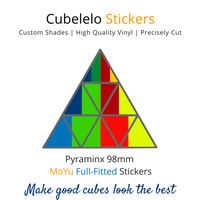 Cubelelo Pyraminx 98mm MoYu Full Fitted Stickers