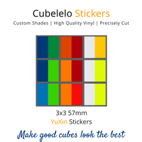 Cubelelo 3x3 57mm YuXin Stickers