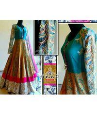Bhagalpuri Silk Gown Dress