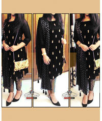 Glamourous Black Banarsi Dress