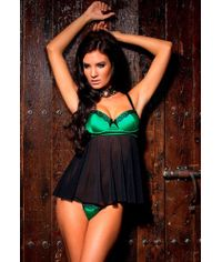 Bottle Green Fancy Nightwear