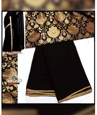 Black Saree With Blouse Set