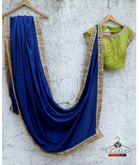 Stunning Blue/Green Saree Set