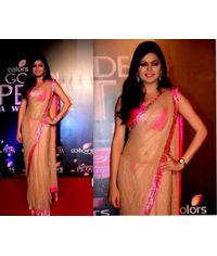 Drishti Dhami Beige/Pink Sari