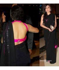 Drishti Dhami Sizzling Black Sari