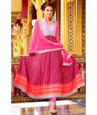 Stunning Pink Anarkali Dress