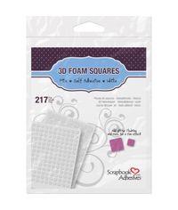 """3D Foam Squares  - White (63) .5""""X.5"""", (154) .25""""X.25"""""""