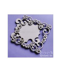 Swirls Frame Pattern 2 , Plywood 3 mm
