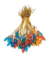Transparent Multicolor - Light Bulb Ornaments 8mm 50/Pkg