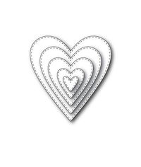 Stitched Heart Layers Craft Dies