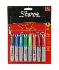 Assorted Colors Sharpie Mini Fine Point Permanent Markers 8/Pkg