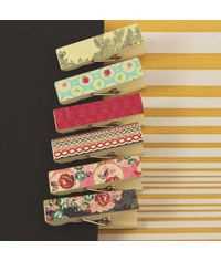 Rosarian Collection - Canvas Covered Wood Clips