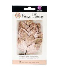 "Genevieve; Paper 8.25"" - Rossi Belle Glittered Leaf Stems"