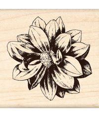 Medium Flower - Rubber Stamp