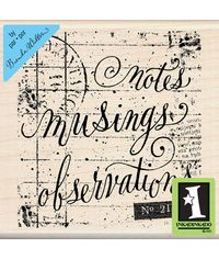 Notes Musing - Rubber Stamp