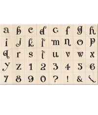 Gemstone Lower Case Alphabet - Stamp