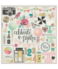 Maggie Holmes Confetti Gold Foiled Chipboard : Accents